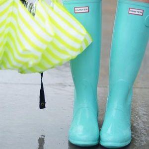 Hunter Tiffany blue rain boots